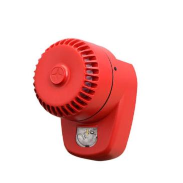 LX sziréna és jelzőfény fehér villogás piros burkolat