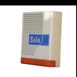 """<font color=""""#2d1fc6"""">SOLO SZIRÉNA</font><p>Kültéri akkumulátoros hang és fényjelző"""
