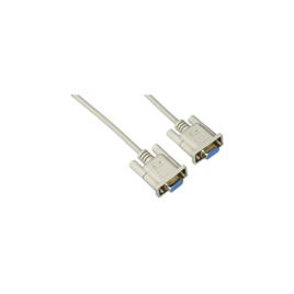 """<font color=""""#2d1fc6"""">S1385</font><p>RS-232 standard null modem cable"""