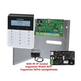 8 zónás központ Szöveges LCD kezelővel Mobil elérhetőséggel