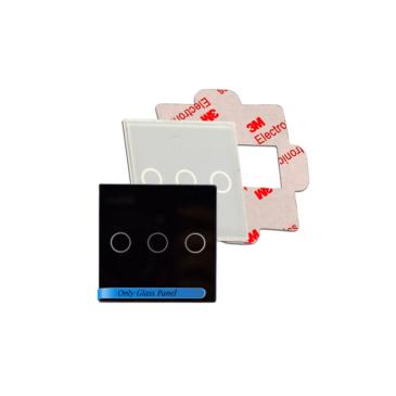 2 érintő gombos kapcsoló-modul soroló keretbe Fehkete