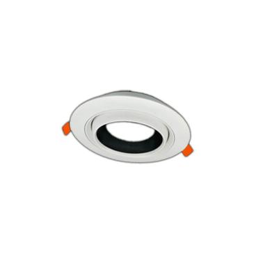 Eyeball dizájn Kerek beépítőkeret MCOB-50 modulokhoz Fehér