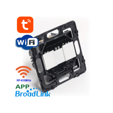 2 áramkörös Süllyesztett Érintőkapcsoló modul Wifi és RF433MHz Mobil APP