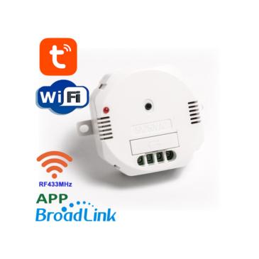 1 áramkörös  Érintőkapcsoló modul Wifi és RF433MHz Tuya Mobil APP