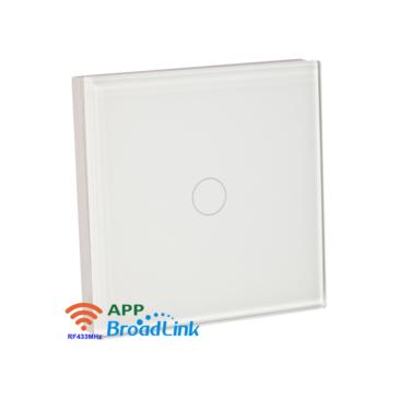 1 csatornás Érintőgombos fali RF távvezérlő fehér
