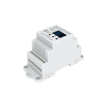 DMX 4csatornás jelkonverter 0-10V D-sínre szerelhető