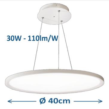 Kör alakú LED panel D= 40 cm 30W 4000K mennyezeti adapterrel