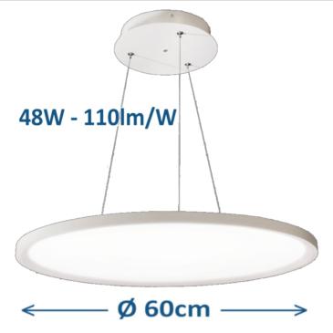 Kör alakú LED panel D= 60 cm 48W 4000K mennyezeti adapterrel