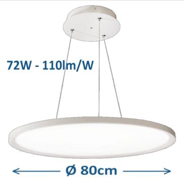 Kör alakú LED panel D= 80 cm 72W 5000K mennyezeti adapterrel