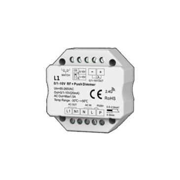 1 áramkörös 0/1-10 V & Push Dimming RF vevőegység
