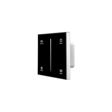 Érintéses Fényerőszabályzó (0-10V ), beépített RF adóval Fekete