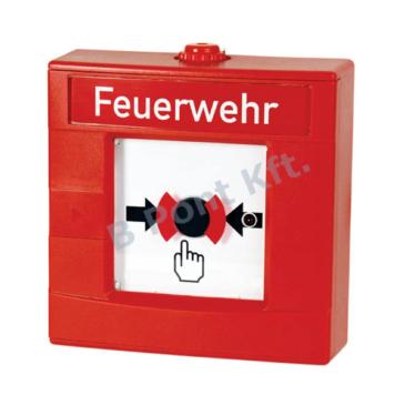 Robbanásbiztos kézi jelzésadó kettős működésű piros (SB3)