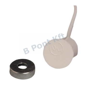 Fehér süllyesztett nyitásérzékelő lapos mágnessel (9.5 mm)