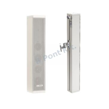 Oszlop hangszóró 20W 70/100 V/8Ω IP65 fém fehér Vészhangosítás