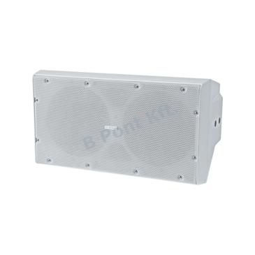 Dobozos subwoofer 2×10″ fehér 400W 120dB IP65