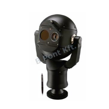 IP fusion 9000i Dual PTZ  Hőkamera QVGA-19mm 9Hz és 2MP 30xzoom fekete