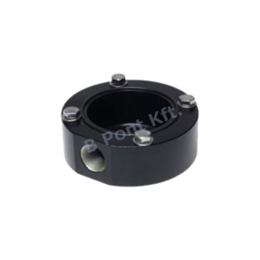 Lapos vezetékezési-adapter fekete