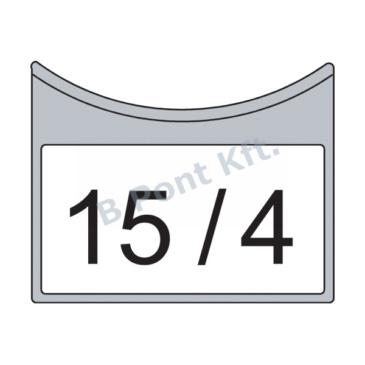 Jelölő tábla matricához 4 m-ig (50 db/csom) min. rendel. 1 csomag