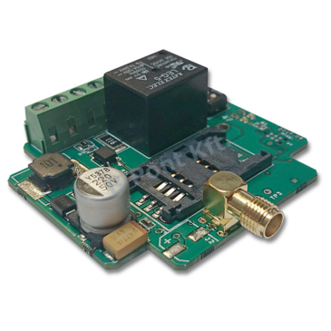 Miniatűr GSM kommunikátor Kimenet vezérlése azonosított telefonszámról
